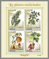 CENTRALAFRICA 2021 MNH Medical Plants Heilpflanzen Plantes Medicinales M/S - IMPERFORATED - DHQ2131 - Heilpflanzen