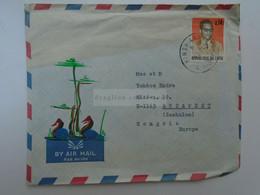 D182455    CONGO KINSHASA ZAIRE  Cover 1974  Sent To Hungary - 1971-79: Used