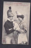 Carte Fantaisie Nancy Le Cas Du Pompier Bapteme Prochain ( Couple Amoureux Bebe  47806) - Andere
