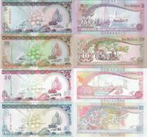 Maldives  Set 4 Pcs 5+10+20+50 Rufiyaa - Pick 18-21 UNC Random Years - Maldives