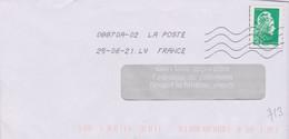 Toshiba 08870A-02 La Poste à La Place De France En Seconde Ligne Après La Date  La Mention LV FRANCE - Mechanical Postmarks (Other)