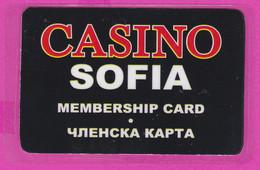 266070 / Bulgaria Casino Sofia - Membership Card , Bulgarie Bulgarien Bulgarije - Casinokaarten