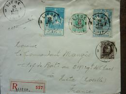 1928  Lettre  4 Timbres   PERFECT  Cachet LIEGE - Storia Postale