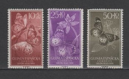 (S0720) SPANISH GUINEA, 1958 (Stamp Day. Butterflies). Complete Set. Mi ## 353-355. MNH** - Guinea Española