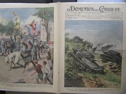 # DOMENICA DEL CORRIERE N 35 / 1934 MANOVRE APPENNINO / IN FONDO AL MARE - Prime Edizioni