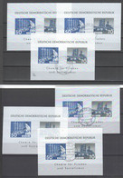 DDR 1963 , 6 Dederon Blöcke Mit Tagesstempel ( 180.- ) - Blokken