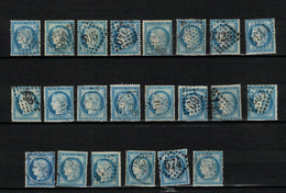 CERÈ Yvert N° 60  Type 3 X 22 Exemplaires. - 1871-1875 Ceres