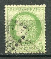 22282 FRANCE N°53g° 5c. Vert-jaune Sur Verdâtre Cérés IIIè. République   1872   B/TB - 1871-1875 Ceres