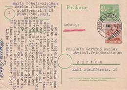 BERLIN 1950   ENTIER POSTAL/GANZSACHE/POSTAL STATIONERY CARTE - Postkaarten - Gebruikt
