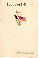 Menu Compagnie Transatlantique Paquebot La Savoie 1919 Dejeuner - Menus