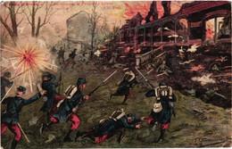 Illustrateur Chamouin - Près D'arras - Combat Héroïque Et Prise Du Château De Vermelles - War 1914-18