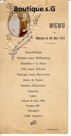 Menu Dejeuner 1905 Communion Photo Enfant Chauvet Laduré - Menú