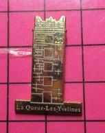 313c Pin's Pins / Beau Et Rare / THEME : VILLES / TOUR CHATEAU LA QUEUE LES YVELINES Dans Le Secteur De Jouy-sous-Yvette - Administrations