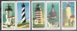 US  1990   Sc#2470-4   Lighthouses Set Of 5 MNH  Face $1.45. - Nuevos
