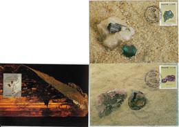 Brazil 1989 Complete Series 2 Maximum Card + 1 GeologyBrazilian Gem Tourmaline Amethyst Imperial Topaz Jewel - Other