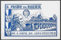 Carte Postale Philathélique Pilatre De Rozier Dessinée Par Haefeli - Metz