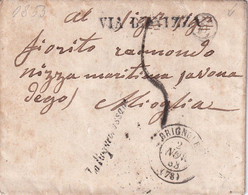 FRANCE  1853 LETTRE DE BRIGNOLLES SANS CORRESPONDANCE - 1801-1848: Precursori XIX