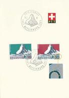 "Sonderstempel  ""100 Jahre Erstbesteigung Matterhorn""  (Retouche)          1965 - Covers & Documents"