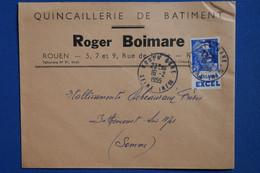 Y4 FRANCE BELLE LETTRE   1955  BANDE PUB EXCEL POUR BETHENCOURT+ + AFFRANCH  PLAISANT - 1921-1960: Période Moderne
