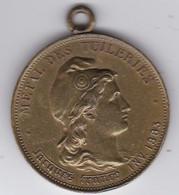 Médaille Fabriquée Avec Le Métal Des Ruines Du Palais Des Tuileries Détruit Par L'incendie De 1871 TTB Rare - Autres
