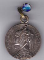 Médaille  Alsace 1870-1914 Alsacienne . Cigogne Et église Au Revers - Autres