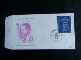 """BELG.1986 2204 FDC (Brux/Brus)  : """" 10 ème Anniversaire De La Fondation Roi Baudouin  """" - 1981-90"""