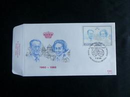 "BELG.1985 2198 FDC (Brux-Brus): "" Koning Boudewijn & Koningin Fabiola / S.M.le Roi Baudouin & S.M. La Reine Fabiola "" - 1981-90"