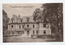 - CPA GROSLAY (95) - Maison De Convalescence Américaine 1919 - Château Belle-Alliance - Façade Sur Le Parc - - Groslay