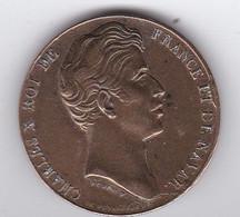 Médaille De Charles X Donnée Aux Habitants De La Vendée - Royaux / De Noblesse