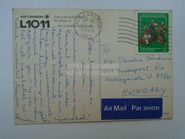 D182509   Canada Postcard   Cancel Alexandria Ontario - AIR CANADA L1011  Airplane - Covers & Documents