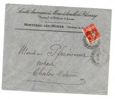 Perfore - Mines De Houilles De Blanzy - Lettre à En-tete Avec YV 138 Perfin MB - Gezähnt (Perforiert/Gezähnt)
