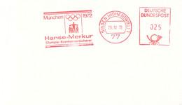 Germany Card W/Meter 1972 München Olympic Games - Singen (Hohentwiel) 1972 Hanse-Merkur Olympia-Kranken - Verano 1972: Munich