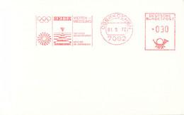 Germany Card W/Meter 1972 München Olympic Games - Oberkochen 1972 Zeiss Weitenmessung - Distance - Verano 1972: Munich