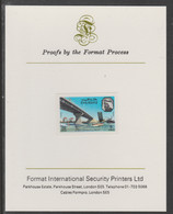 Dubai 1970 Al Maktum Bridge 20d Imperf Proof Mounted On Format International Proof Card, As SG 364 - Arabie Saoudite