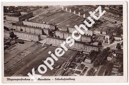 Flugzeugaufnahme Erlenhofsiedlung, Mannheim   (z3670) - Mannheim