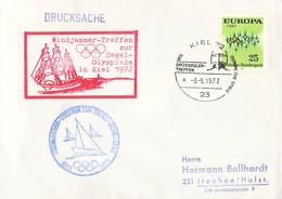 Germany Cover Kiel 1972 Grossseglertreffen - Windjammer-Treffen Zur Segel Olympiade In Kiel 1972 (G135-42) - Sailing