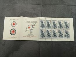 ⭐ Carnet CROIX-ROUGE 1955 Entier 10 Timbres NEUFS** Côte 450€ - État EXCEPTIONNEL Sans Charnières Gomme Intacte ⭐ - Red Cross