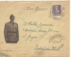 CARTA  1939 FRANCO   LA GUARDIA  CENSURA PONTEVEDRA - Marques De Censures Nationalistes
