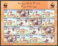 AA688 2001 ERITREA WWF FAUNA WILD ANIMALS PROTELES CRISTATUS AARDWOLVES #8194-97 MICHEL 16 EURO SH MNH - Nuevos