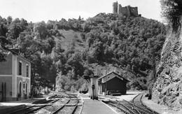NAJAC - La Gare Et Le Château - Voies Ferrées - Najac