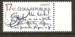 "CHECA REPÚBLICA/ CZECH REPUBLIK/ CESKA REP.-EUROPA 2008 -Tema:""LA CARTA ESCRITA -WRITING LETTERS"".- SERIE N - 2008"