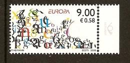 """ESTONIA/ ESTLAND/ EESTI/ ESTONIE - EUROPA 2008 -Tema:""""LA CARTA ESCRITA - WRITING LETTERS"""".- SERIE N - 2008"""