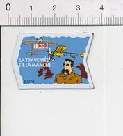 Magnet Le Gaulois Inventions Premiere Traversée De La Manche En Avion En 1909 Louis Blériot  Mag12 - Magnets