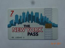CARTE A PUCE CHIP CARD CARTE FIDÉLITÉ THE NEW-YORK PASS ADULT 7 JOURS - Carta Di Fedeltà E Regalo