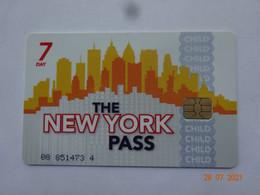 CARTE A PUCE CHIP CARD CARTE FIDÉLITÉ THE NEW-YORK PASS CHILD 7 JOURS - Carta Di Fedeltà E Regalo
