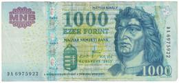Billet, Hongrie, 1000 Forint, 2011, KM:197c, TB - Ukraine