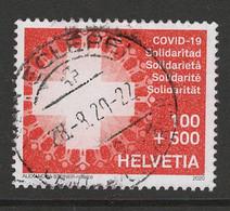 Zwitserland 2020, Mi 2648 Covid Zegel Hele Hoge Waarde, Toeslag, Gestempeld - Used Stamps