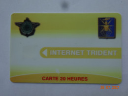 CARTE A PUCE CHIP CARD CARTE FIDÉLITÉ CARTE INTERNET TRIDENT CARTE 20 HEURES ARMÉE - Gift And Loyalty Cards