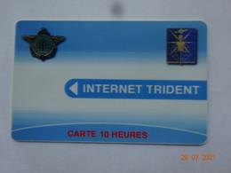 CARTE A PUCE CHIP CARD CARTE FIDÉLITÉ CARTE INTERNET TRIDENT CARTE 10 HEURES ARMÉE - Gift And Loyalty Cards
