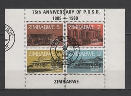 (S2683) ZIMBABWE, 1980 (75th Anniversary Of The Post Office Savings Bank). Souvenir Sheet. Mi ## 247-250 (Block 6). Used - Zimbabwe (1980-...)